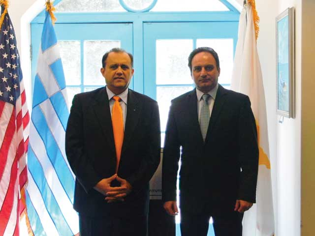 Cyprus Government Spokesman, Stefanos Stefanou at AHI Headquarters